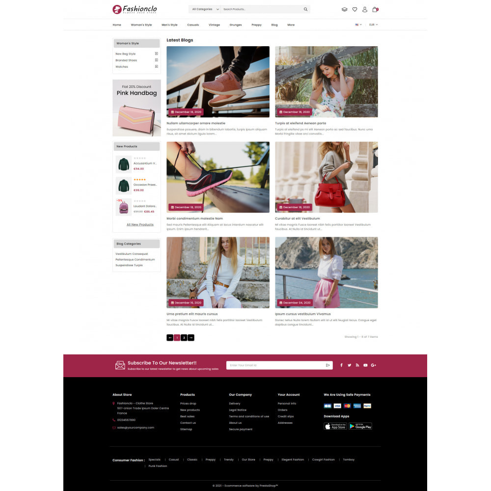 theme - Fashion & Shoes - Fashionclo - Minimal Fashion Store - 9