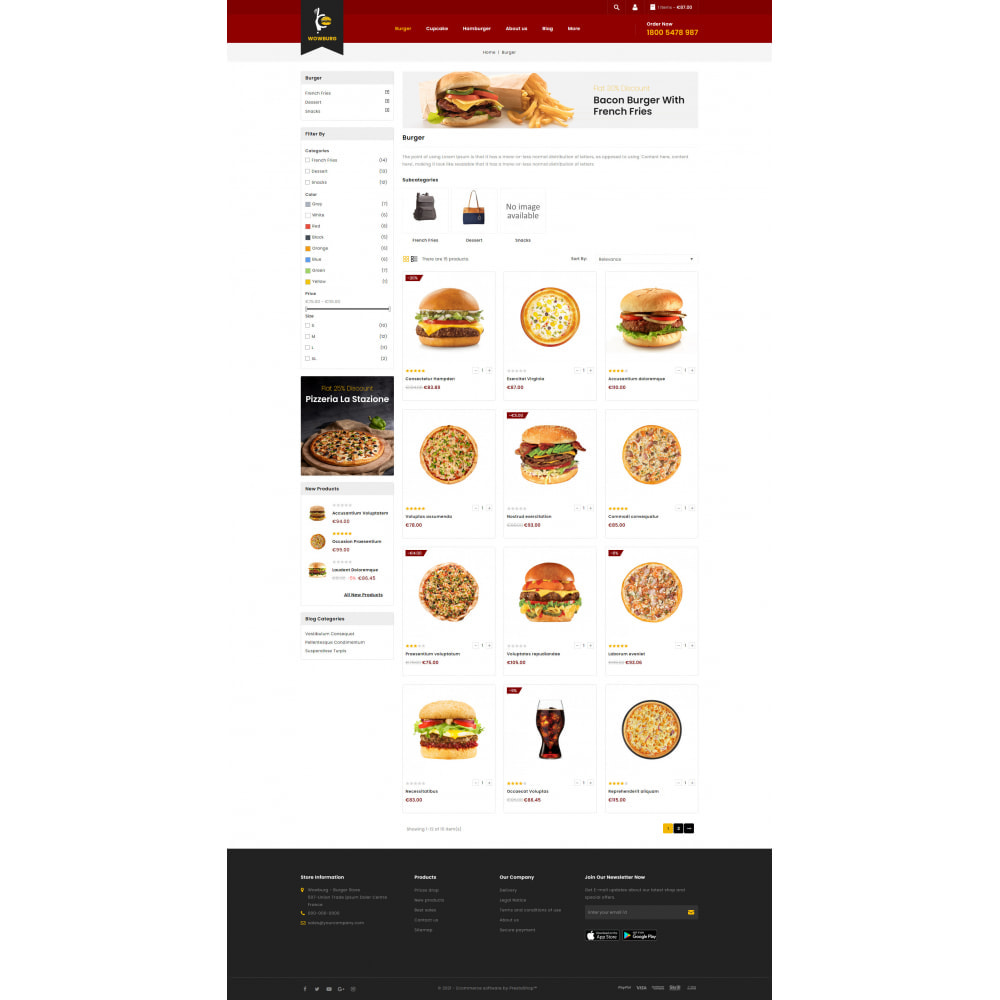 theme - Food & Restaurant - Wowburg - Burger Store - 3