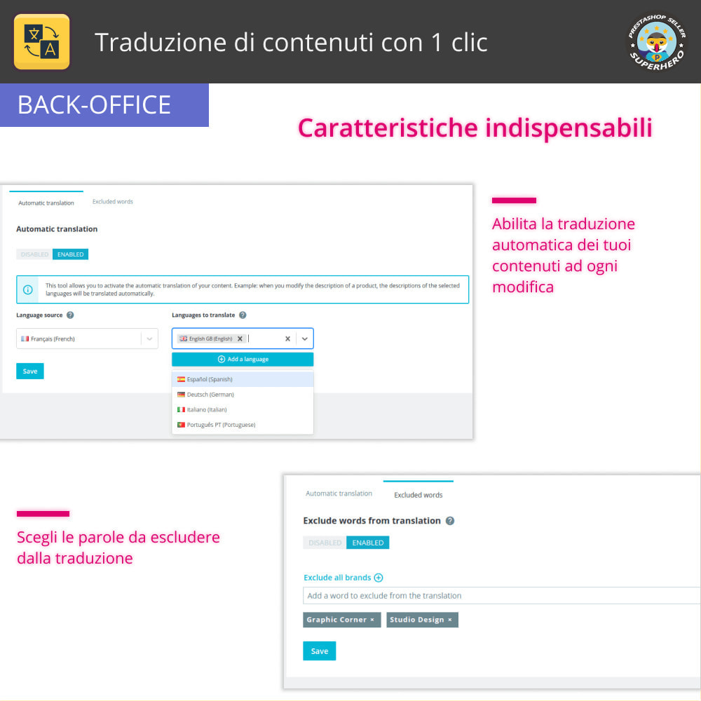 module - Lingue & Traduzioni - Traduzione di contenuti con 1 clic - 6
