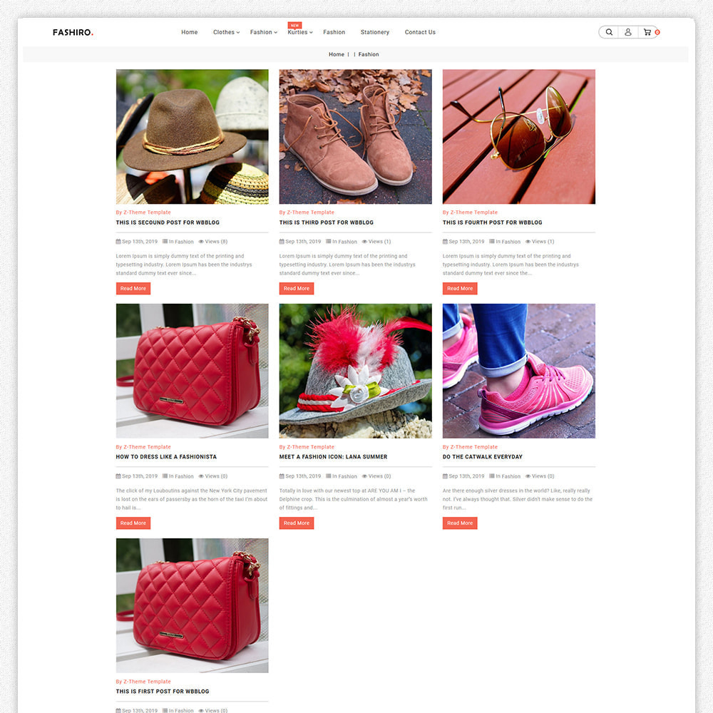 theme - Fashion & Shoes - Fashiro - Mega Fashion Trend Store - 6