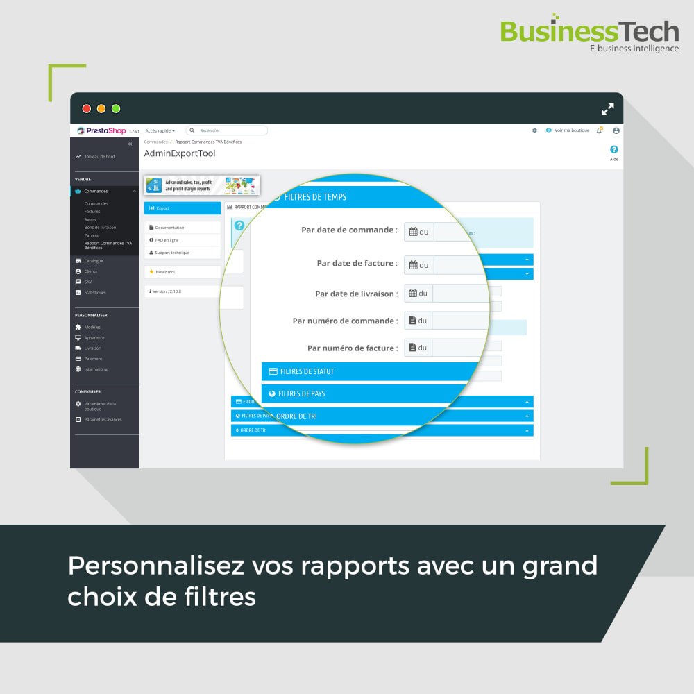 module - Analyses & Statistiques - Sales Reports Pro: Rapports ventes & Exports comptables - 3