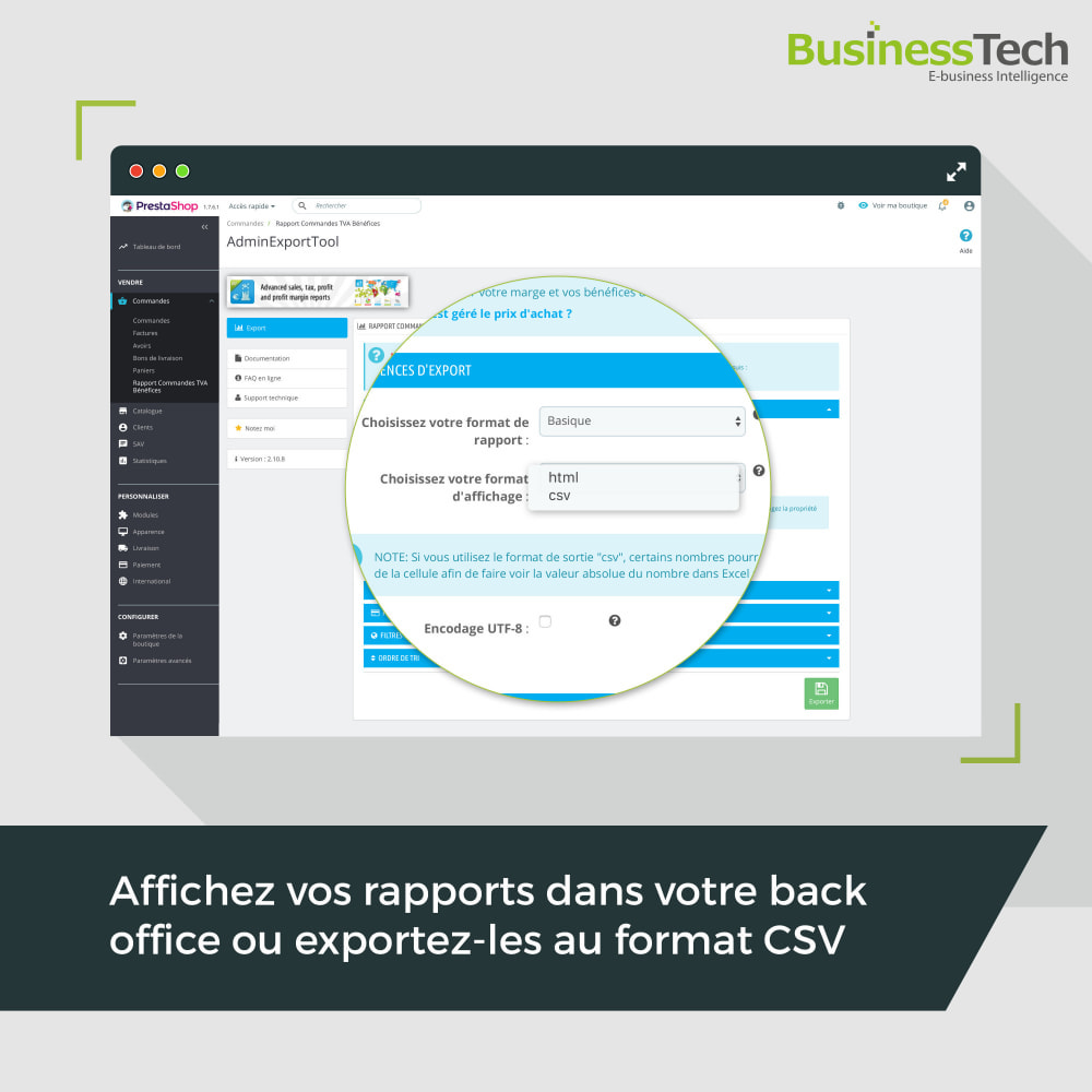 module - Analyses & Statistiques - Sales Reports Pro: Rapports ventes & Exports comptables - 6