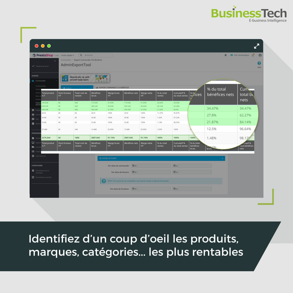 module - Analyses & Statistiques - Sales Reports Pro: Rapports ventes & Exports comptables - 8