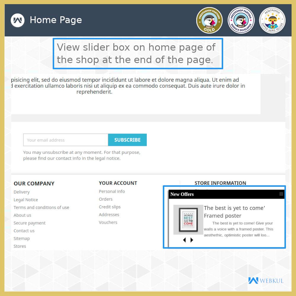 module - Zarządzanie produktami na stronie głównej - Page End Slidebox - 3