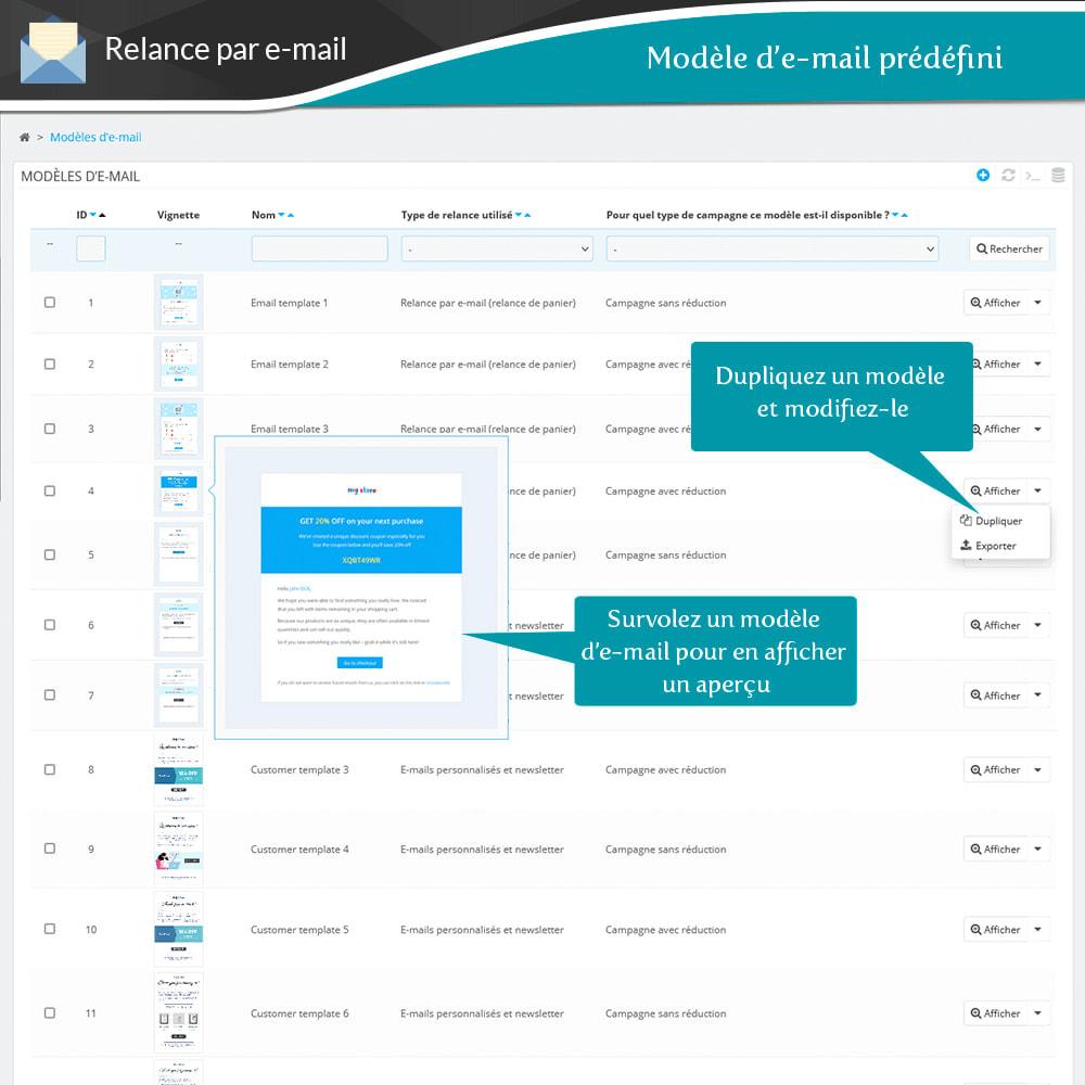 module - Remarketing & Paniers Abandonnés - Relance des paniers abandonnés + E-mails automatiques - 12