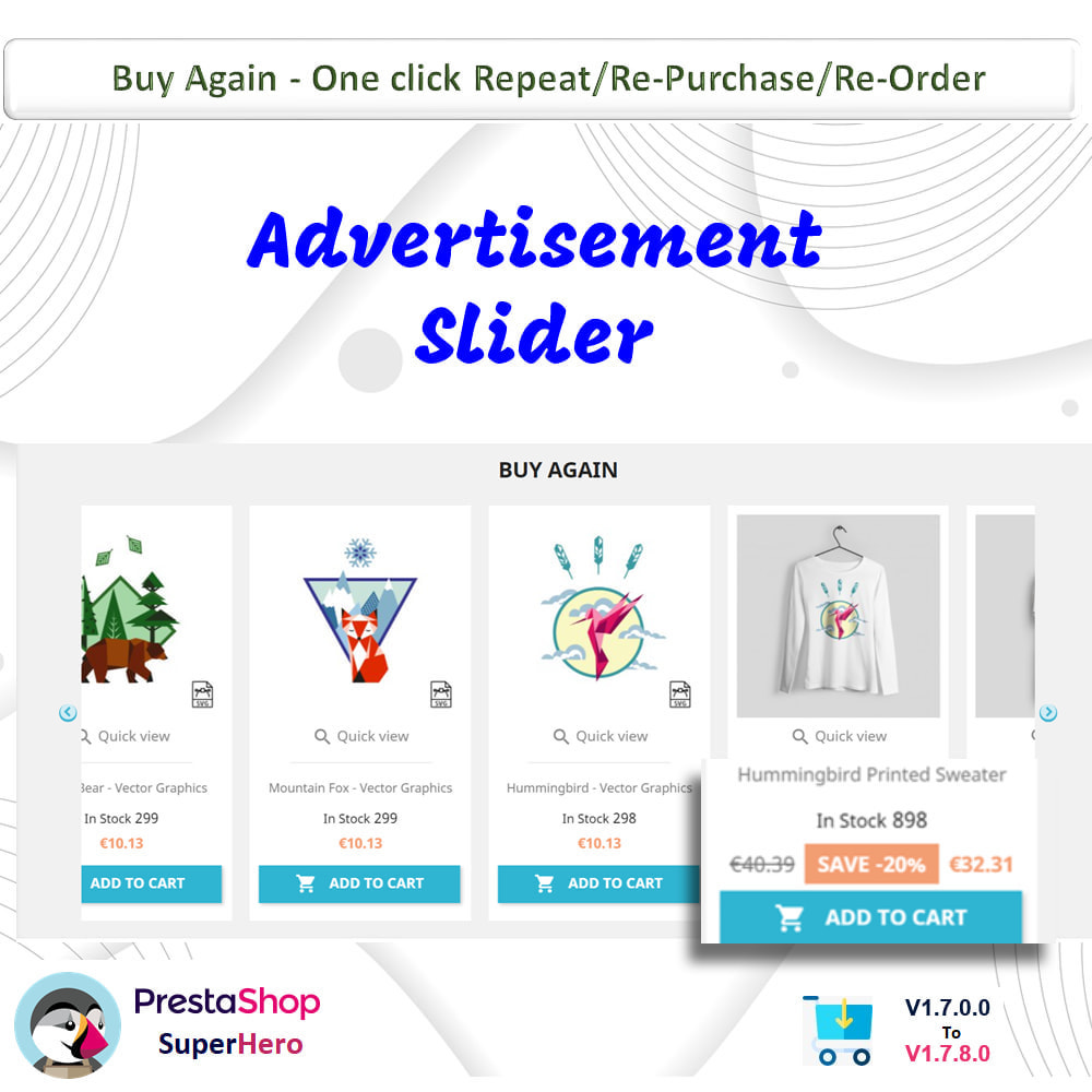 module - Bestelproces - Buy Again- One click Repeat/Re-Purchase/Re-Order - 9