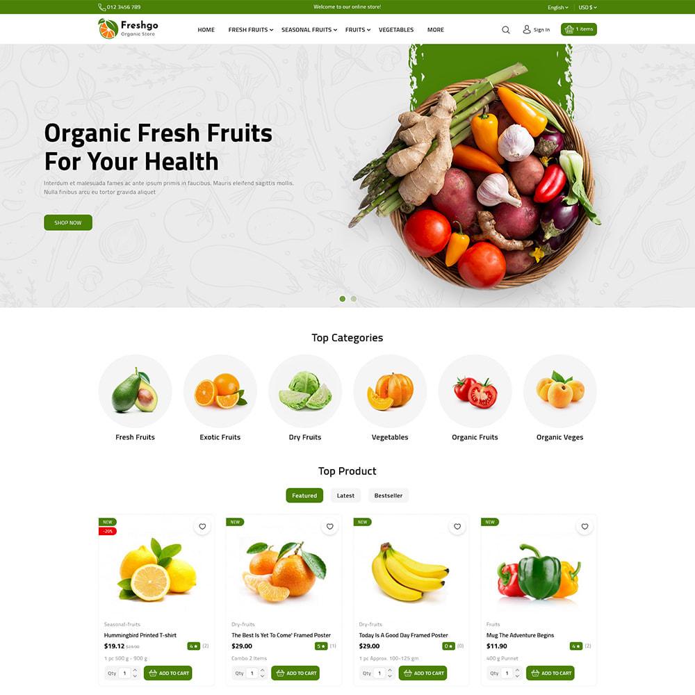 theme - Food & Restaurant - FreshGo - Fresh Vegetables & Supermarket Food Store - 2