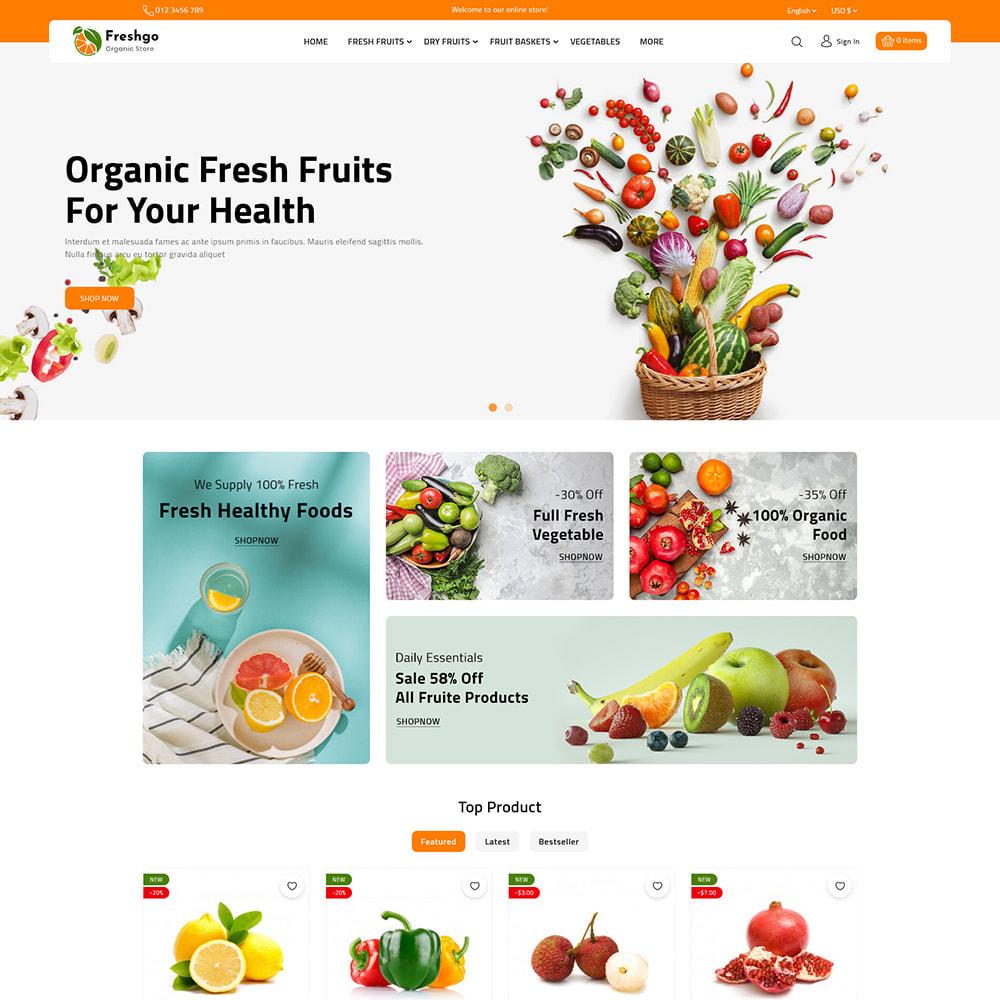 theme - Food & Restaurant - FreshGo - Fresh Vegetables & Supermarket Food Store - 3