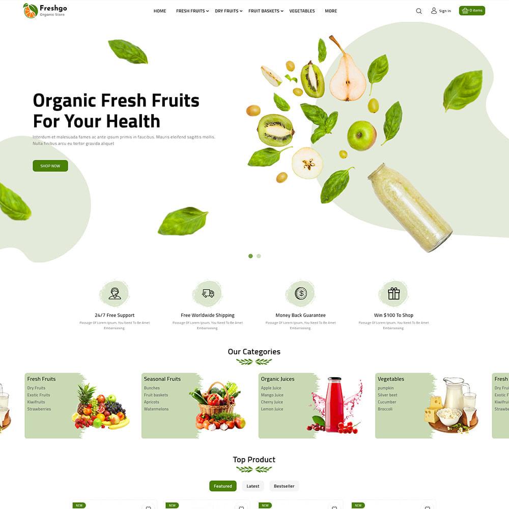 theme - Food & Restaurant - FreshGo - Fresh Vegetables & Supermarket Food Store - 4