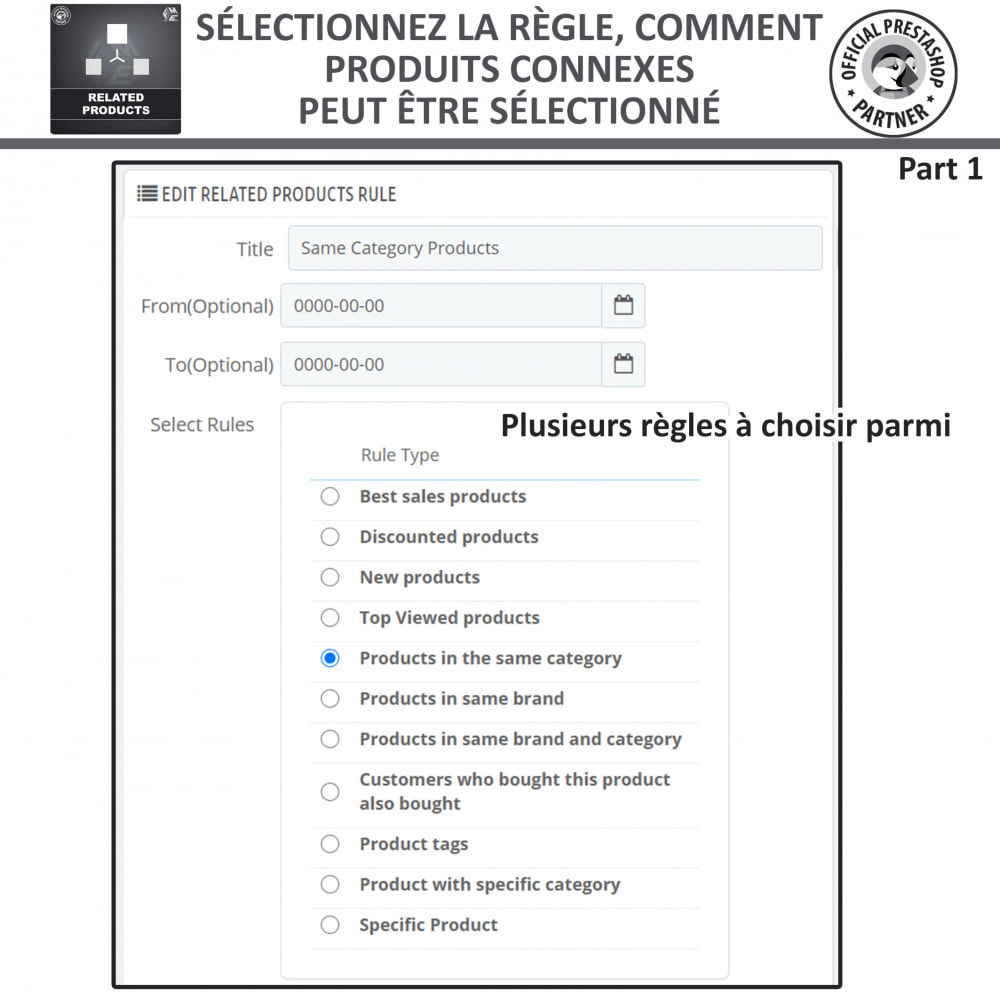 module - Ventes croisées & Packs de produits - Produits Connexes, Curseur Réactif de Produits Connexes - 7