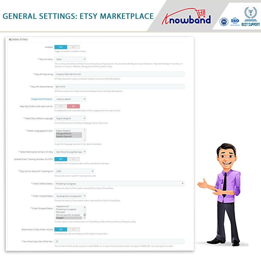 Etsy Prestashop Integration module