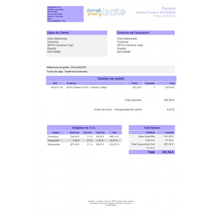 module - Accounting & Invoicing - Customized Invoice - 1