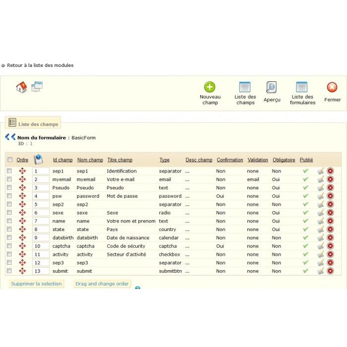 module - Форма обратной связи и Опросы - Customizable ContactForm - 7