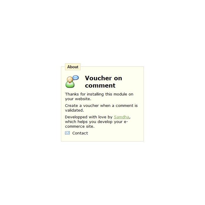 module - Отзывы клиентов - Voucher on comment - 5