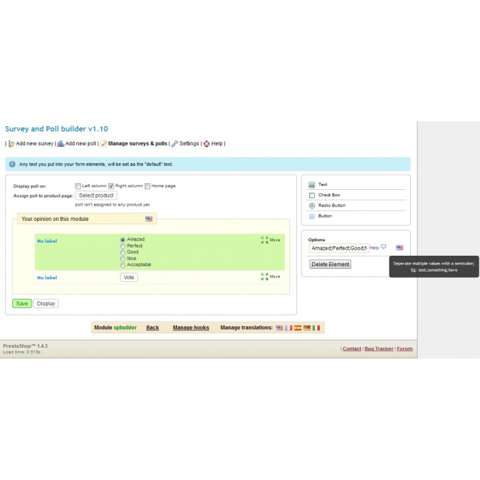 module - Formulario de contacto y Sondeos - Survey & Poll builder - 4