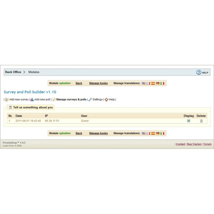 module - Formulario de contacto y Sondeos - Survey & Poll builder - 11