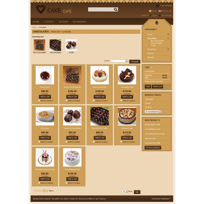 theme - Alimentation & Gastronomie - Cake Prestashop Theme - PRS010006 - 4