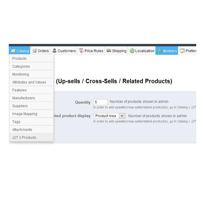 module - Cross-selling & Product Bundles - J2T X Product Up-sells / Cross-Sells / Related Products - 4