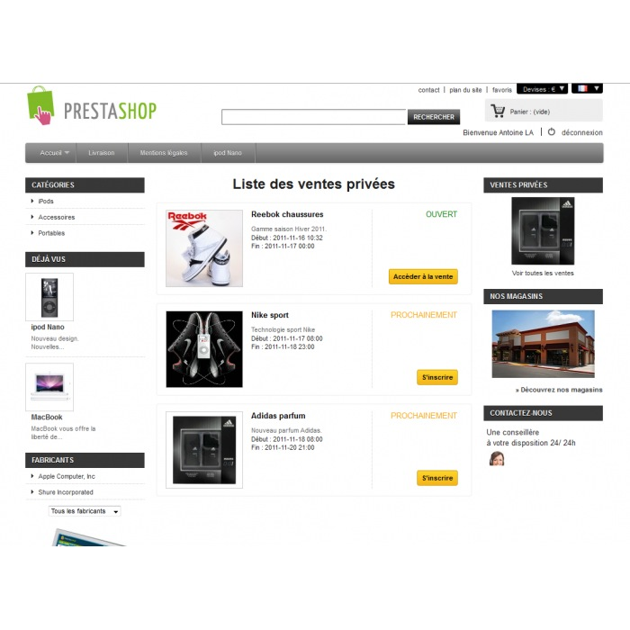 module - Flash & Private Sales - Vendite private PrestaShop - 2