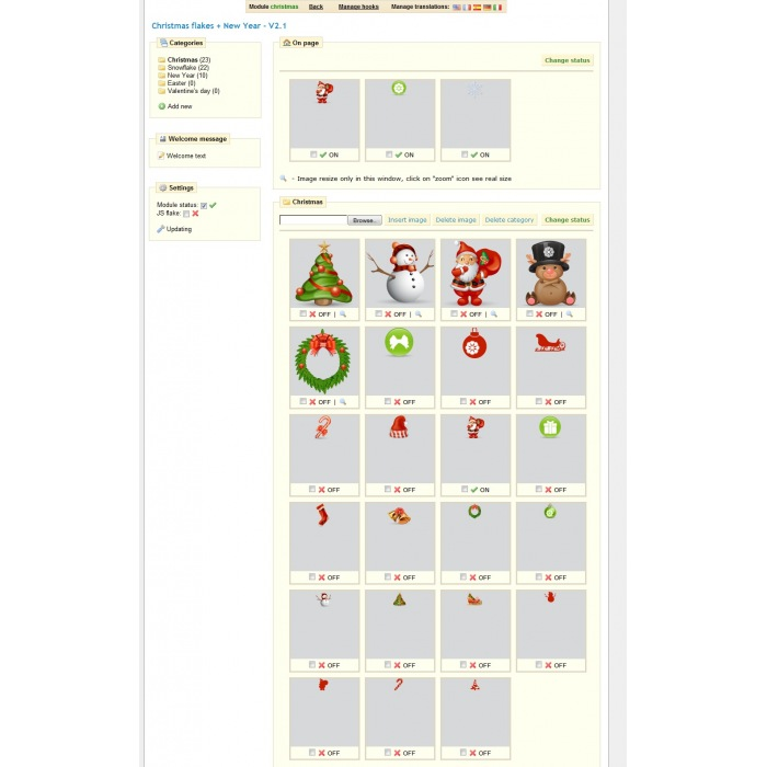 module - Page Customization - Christmas flakes + New Year - 1