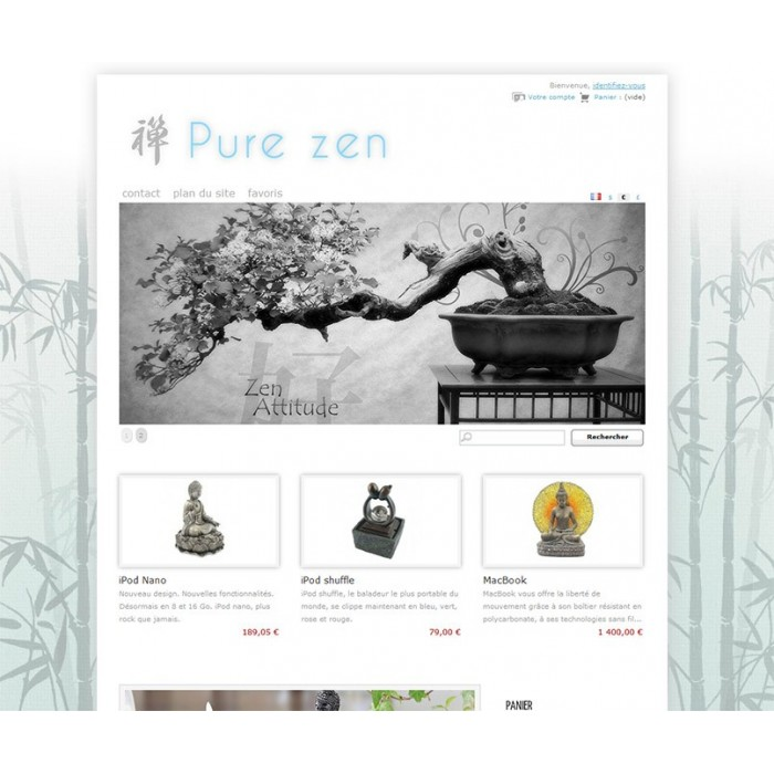 PrestaShop Templates > Nature & flowers > Pure Zen