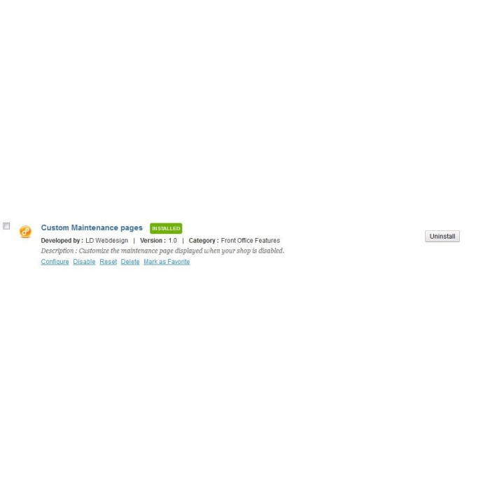 module - Personalizacja strony - Custom maintenance pages (Coming soon) - 1