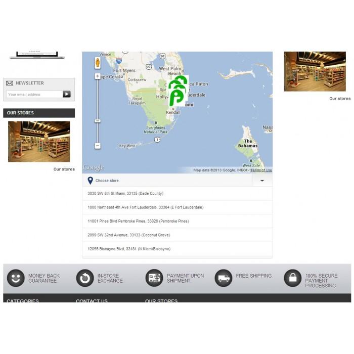 module - Международный рынок и геолокация - Store location in Google maps - 4