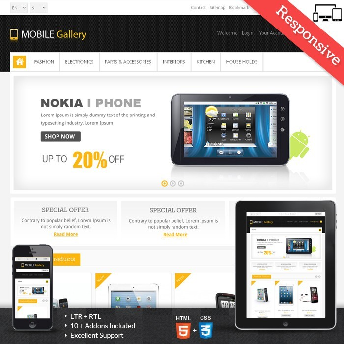 theme - Eletrônicos & High Tech - Mobile Gallery Prestashop Theme - PRS060139 - 1