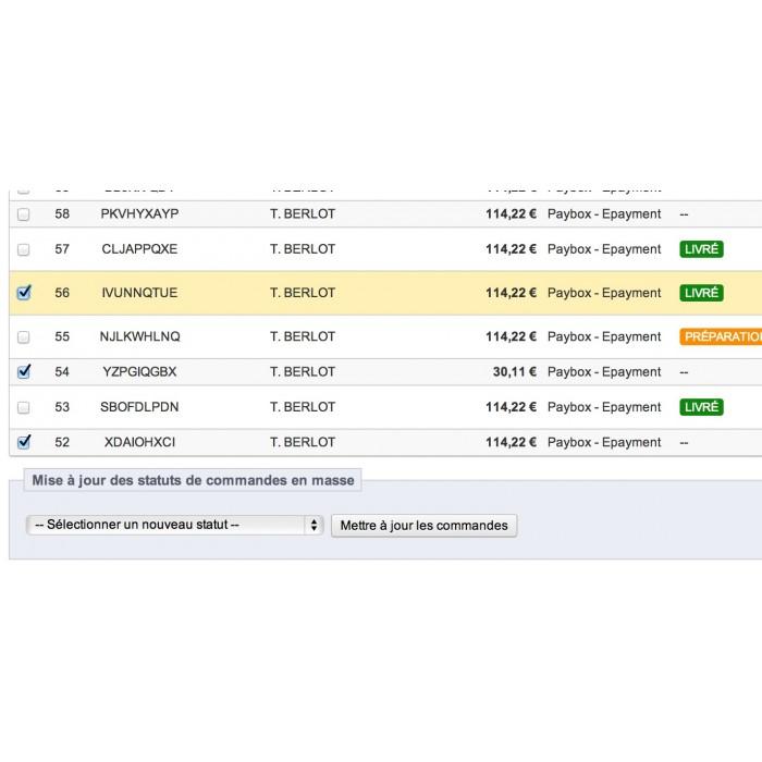 module - Edition rapide & Edition de masse - Mise à jours des statuts de commandes en masse - 11