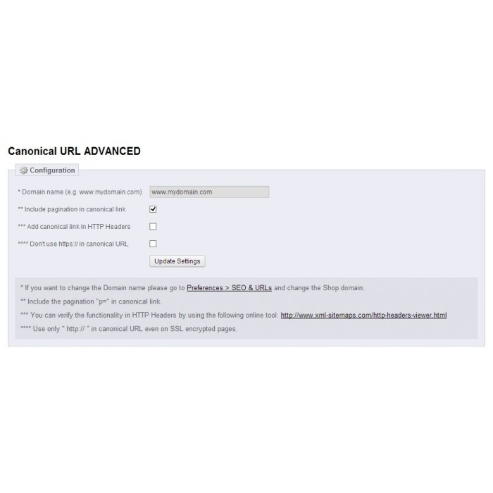 module - Gestão de URL & Redirecionamento - Canonical URL ADVANCED - 4