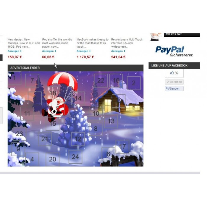 module - Page Customization - Advent Calendar / Christmas Calendar / Santa Calendar - 7