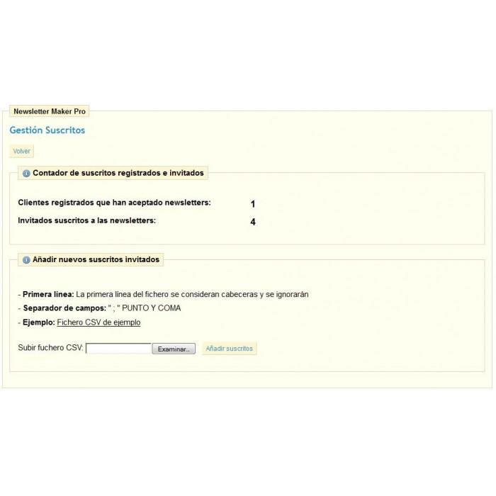 module - Newsletter y SMS - Newsletter Maker Pro - 10