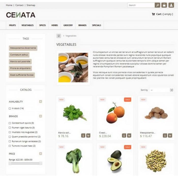 theme - Продовольствие и рестораны - Cenata new - 2