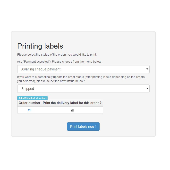 module - Administrative tools - Print Labels Pro - 5