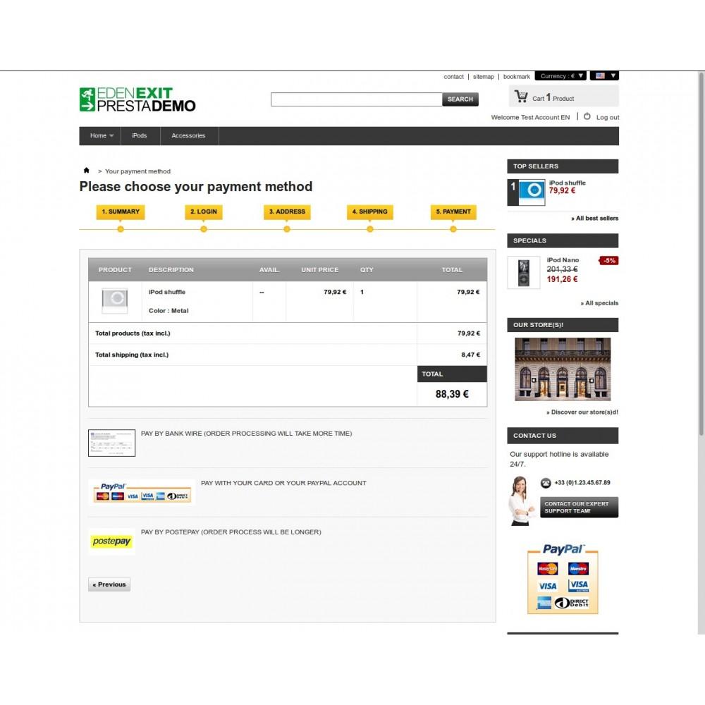module - Vooruitbetaling - PostePay - 3