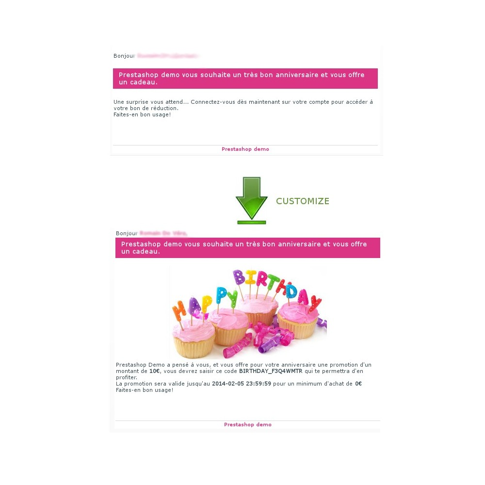 module - Programa de Fidelidad - Happy Birthday - sending coupon automatic way - 10