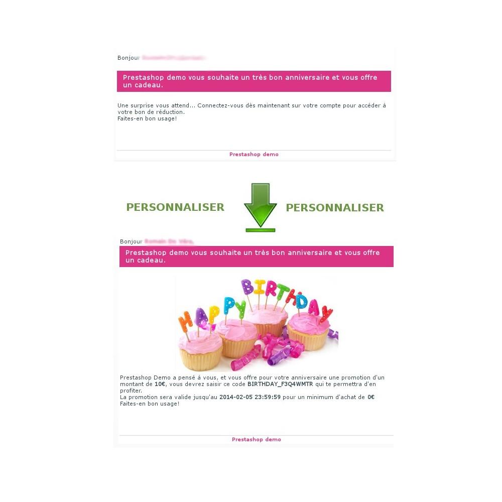 module - Fidélisation & Parrainage - coupon anniversaire : fidélisez vos clients - 9