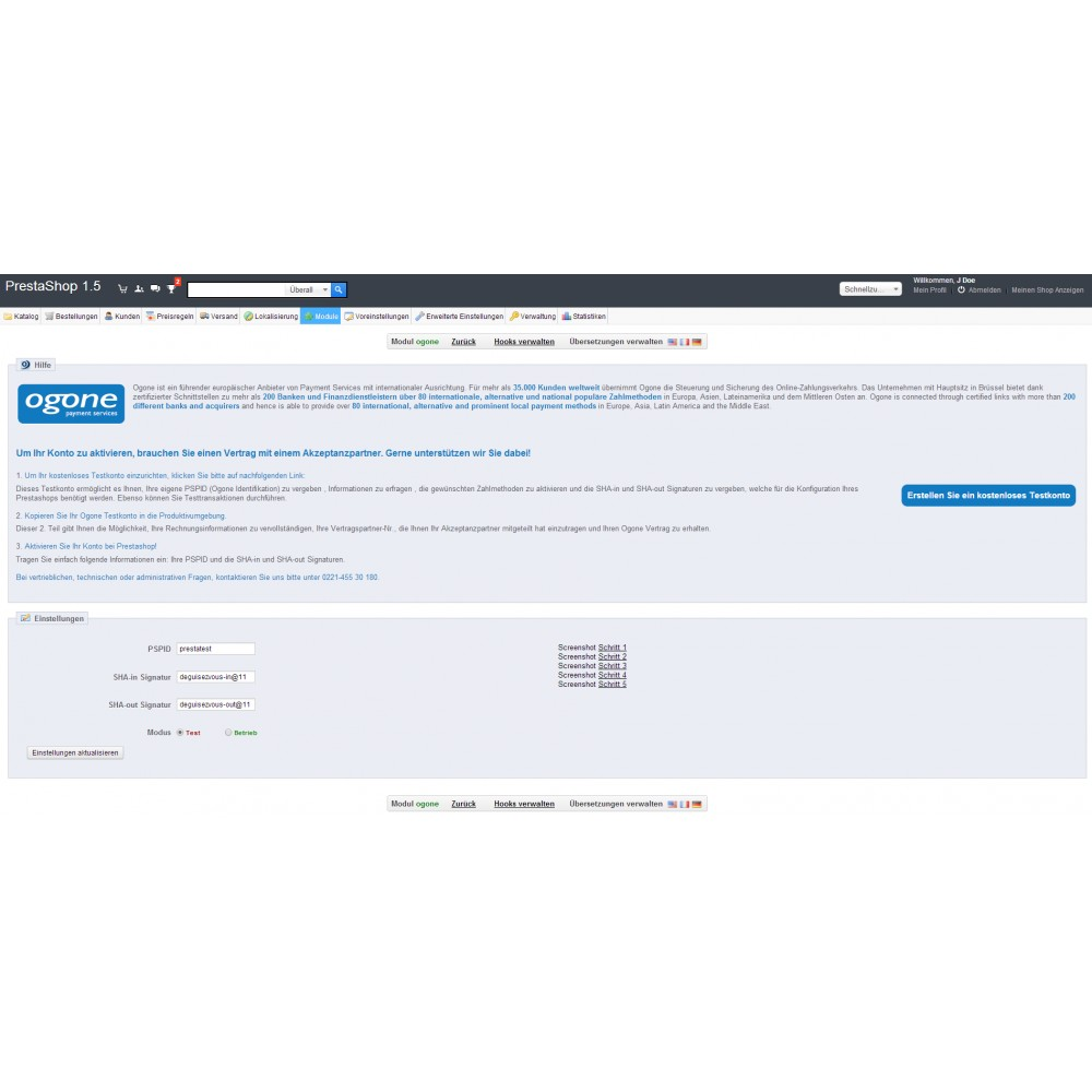 module - Zahlung per Kreditkarte oder Wallet - Ingenico ePayments - 1