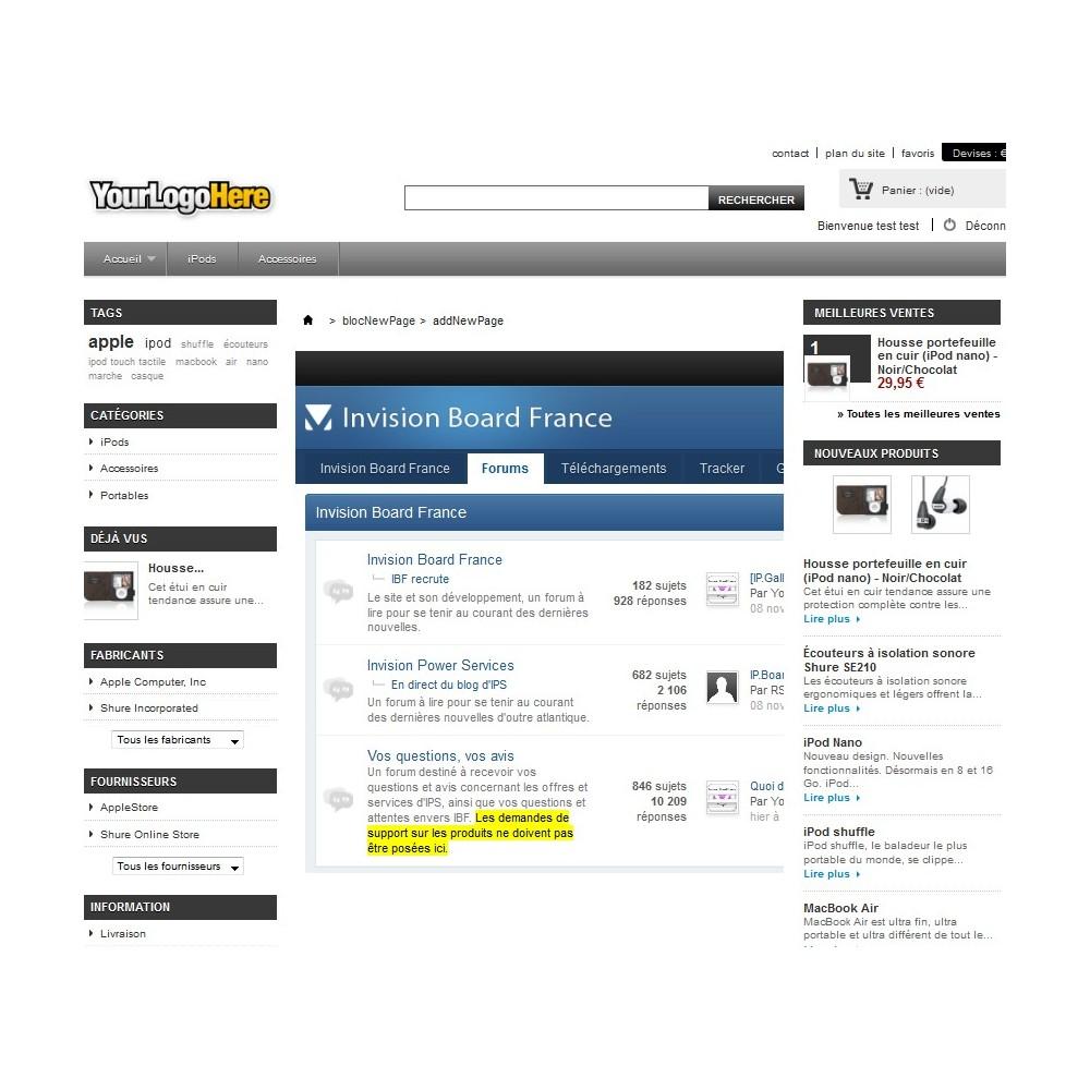 module - Personnalisation de Page - Wrapper / iFrame . Insérez une page web extérieure - 7