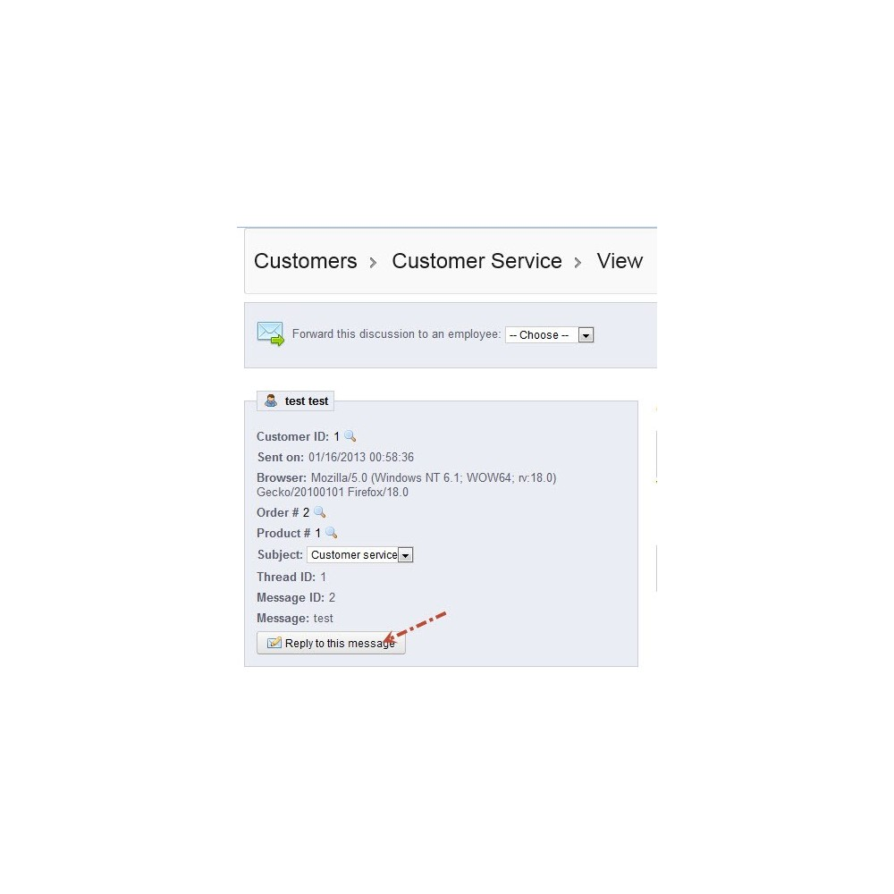 module - Customer Service - Predefined Standard Message Reply on Customer Service - 6