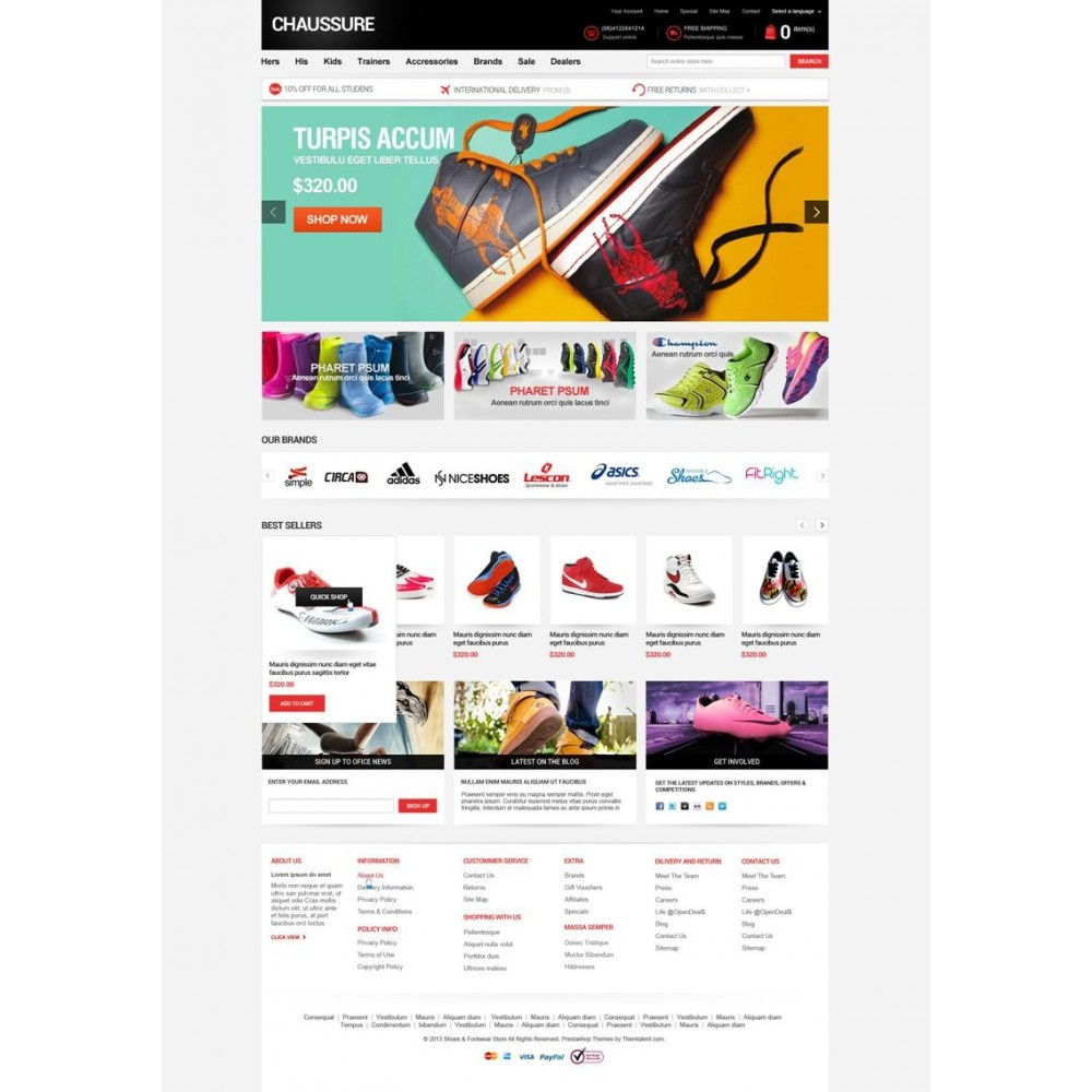 theme - Moda & Obuwie - Shoes Store Responsive PrestaShop Theme - ET Chaussure - 1