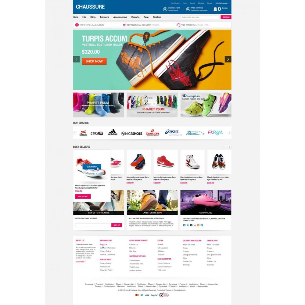 theme - Мода и обувь - Shoes Store Responsive PrestaShop Theme - ET Chaussure - 2