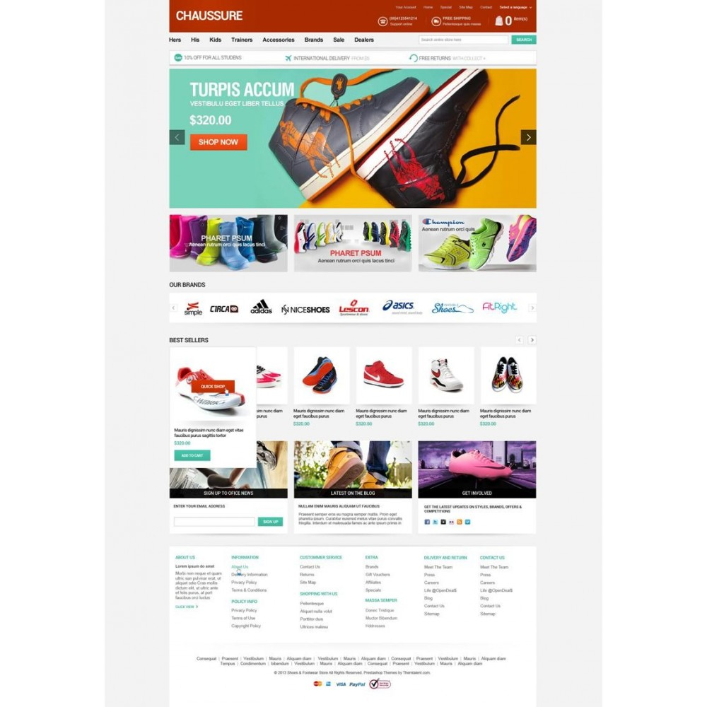 theme - Мода и обувь - Shoes Store Responsive PrestaShop Theme - ET Chaussure - 3