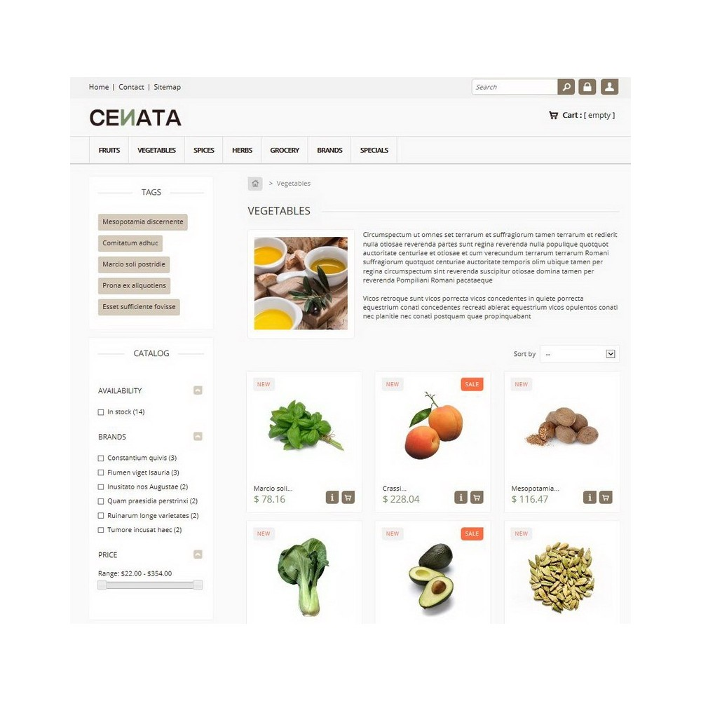 theme - Alimentation & Restauration - Cenata - 2