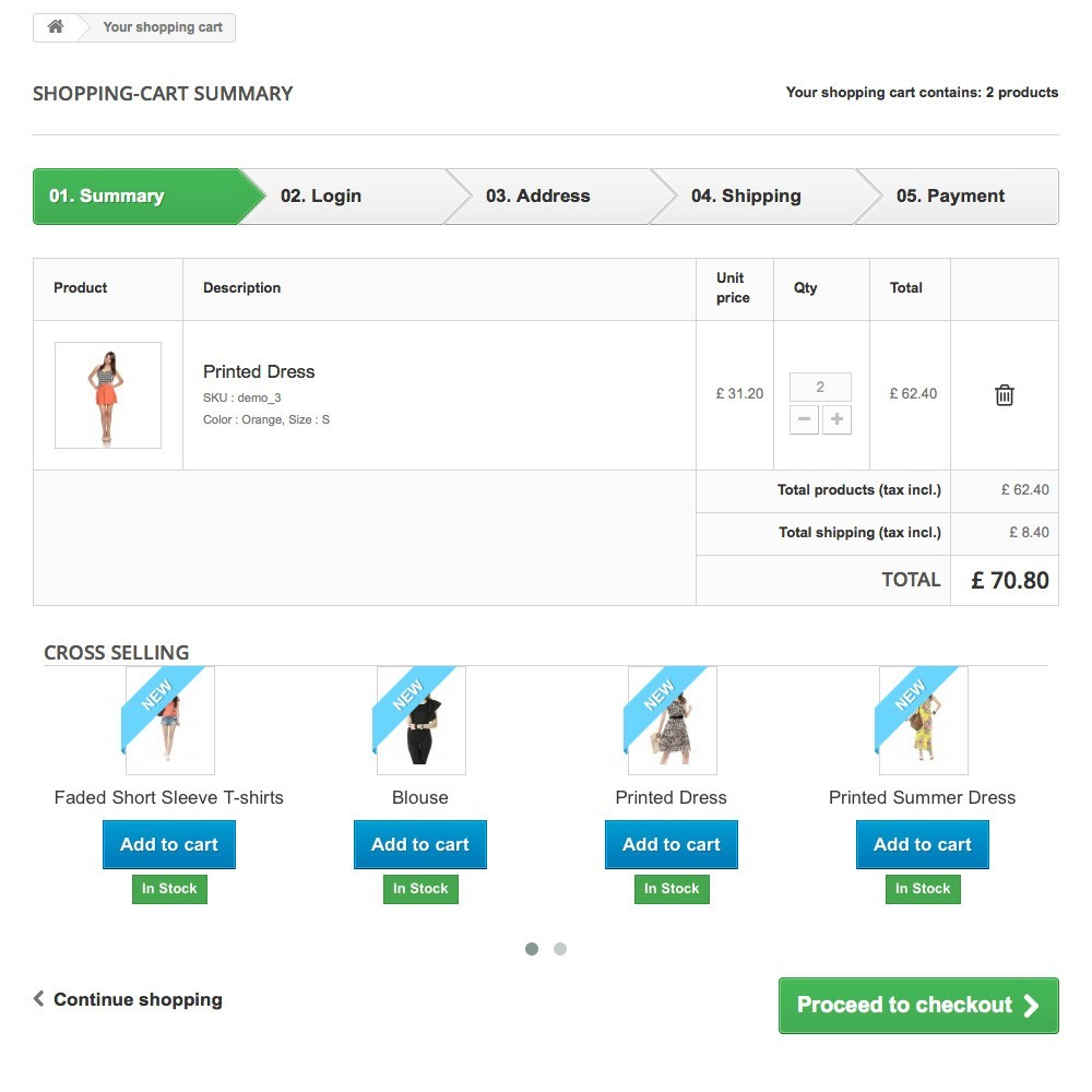 module - Ventas cruzadas y Packs de productos - Cross Selling on Cart - 3
