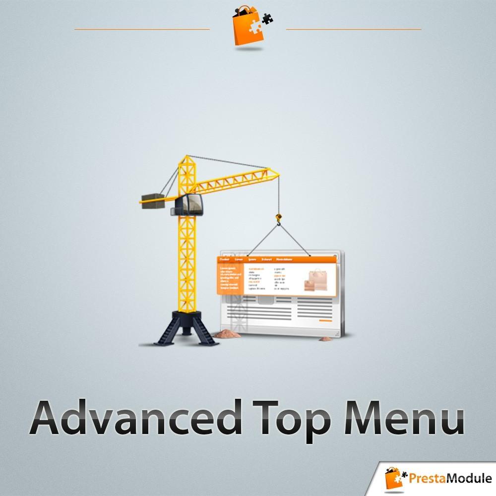module - Front office features - Advanced Top Menu - 1