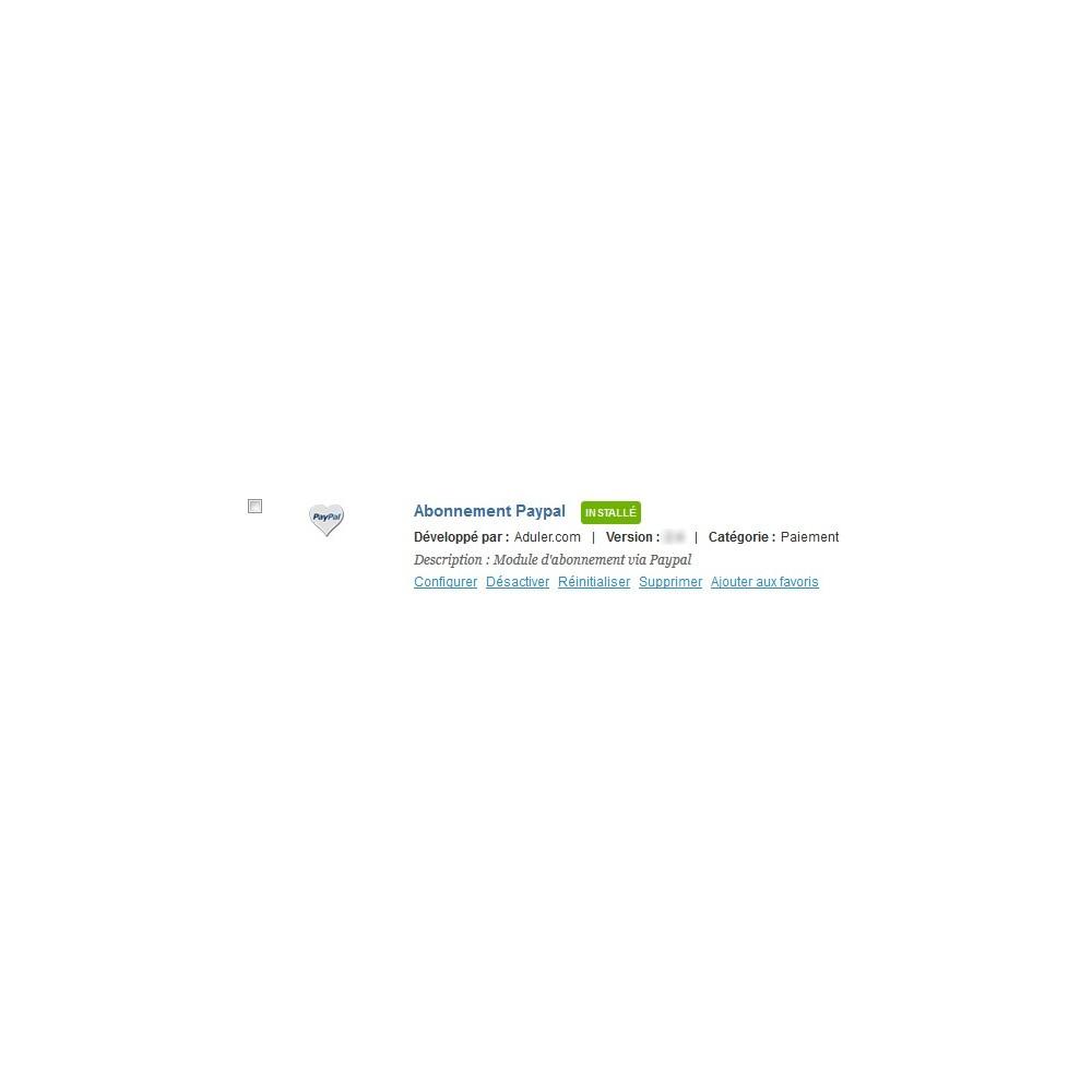 module - Abonnementzahlung - Paypal subscriptions - 1