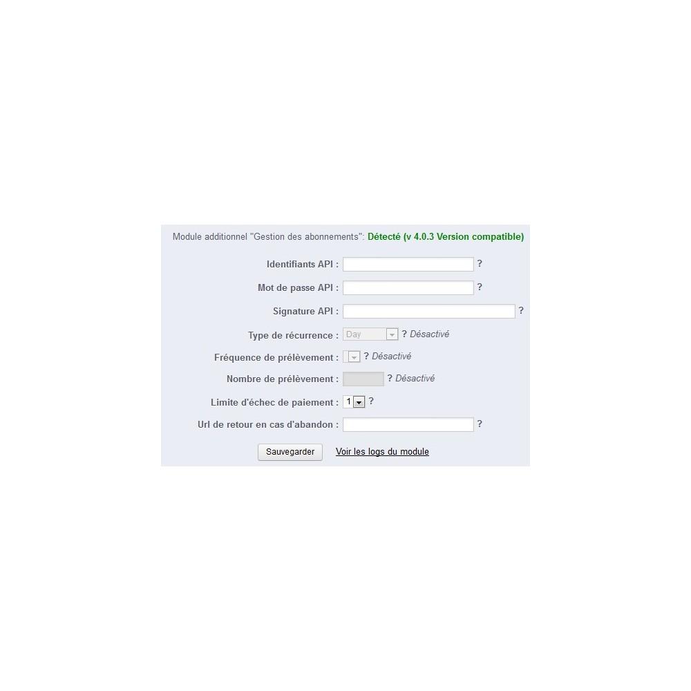 module - Pagamento recorrente (assinatura) - Paypal subscriptions - 3