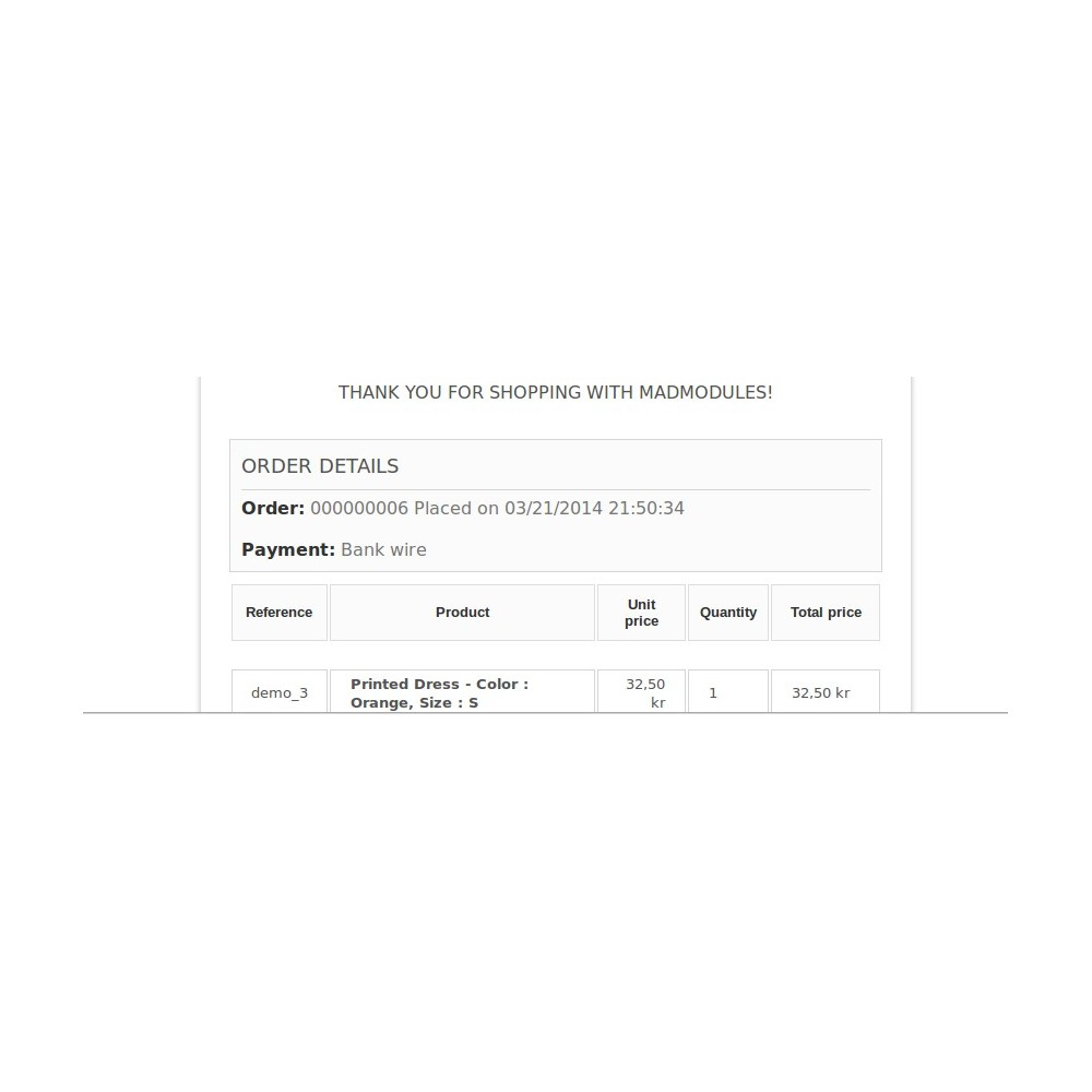 module - Order Management - Order Reference Number - 7
