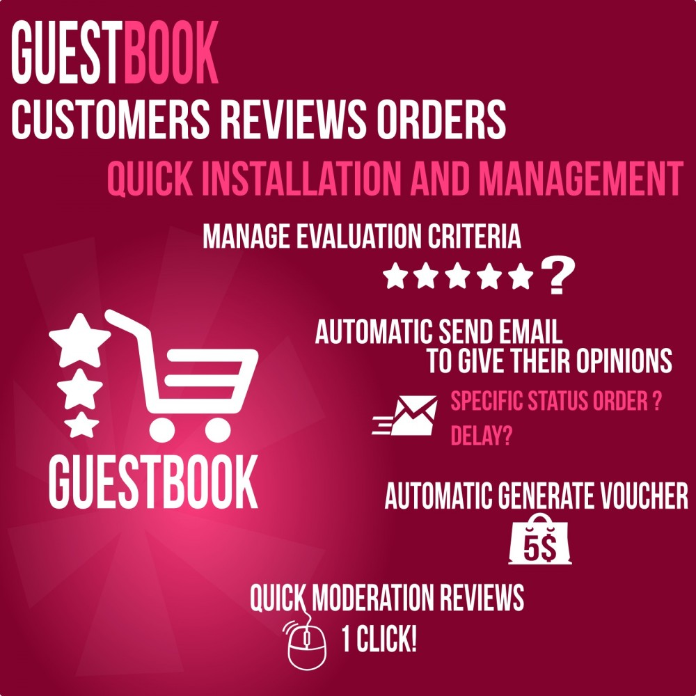 module - Opinie klientów - Guestbook orders customers reviews - 2
